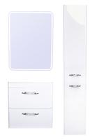 Комплект мебели для ванной комнаты Style Line Каре 60 (2 ящ.) Люкс белая, PLUS, подвесная