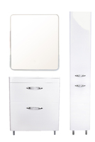 Комплект мебели Style Line Каре 70 (2 ящ.) Люкс белая, PLUS