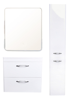 Комплект мебели Style Line Каре 70 (2 ящ.) Люкс белая, PLUS, подвесная
