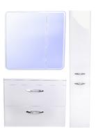 Комплект мебели Style Line Каре 80 (2 ящ.) Люкс белая, PLUS, подвесная