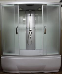 Душевая прямоугольная кабина с ванной RIVER NARA 150/80/55 МТ