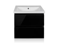 Комплект мебели для ванной комнаты Style Line Даймонд 60 Люкс Plus черная