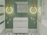 Комплект мебели для ванной комнаты Stella Polar Памелла 60 2 ящика