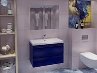 Комплект мебели Stella Polar подвесная Памелла 80 2 ящика синяя