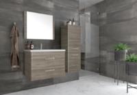 Комплект мебели для ванной комнаты Style line Лотос 60 подвесная Шелк зебрано PLUS