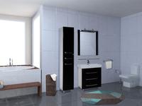 Комплект мебели для ванной комнаты Bellezza Рокко напольный