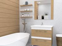 Комплект мебели для ванной комнаты Stella Polar Симона 60