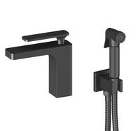 Смеситель для раковины TIMO Torne 4360/03G с гигиеническим душем черный