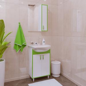 Комплект мебели для ванной комнаты Stella Polar Спектр 50 зеленая