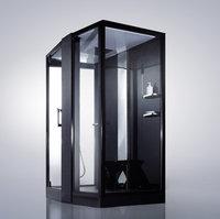 Душевая прямоугольная кабина с ванной ORANS OLS-SR89102S L/R  black (левая/правая)