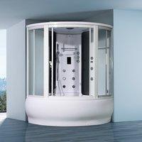 Душевая угловая кабина с ванной ORANS SR-9907
