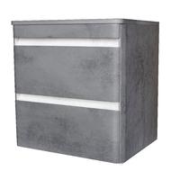 Комплект мебели Style Line Атлантика 80 Люкс бетон темный подвесная