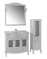 Комплект мебели ASB Woodline Флоренция-105 Витраж белый (Массив ясеня)