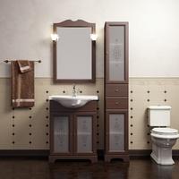Комплект мебели для ванной комнаты OPADIRIS КАМА 65 ОРЕХ АНТИК