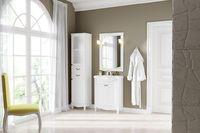 Комплект мебели для ванной комнаты DiHome Сильвия 65 белая из массива ясеня