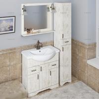 Комплект мебели СаНта Тумба Классик 80 + Зеркало Классик 80, белое золото