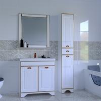 Комплект мебели СаНта Тумба Мадрид 80 + Зеркало Мадрид 80, золотая патина
