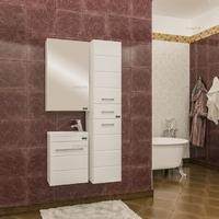 Комплект мебели для ванной комнаты СаНта Тумба Омега 40 (Como) + Зеркало Стандарт 45