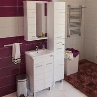 Комплект мебели для ванной комнаты СаНта Тумба Омега 50 + Зеркало Омега 50
