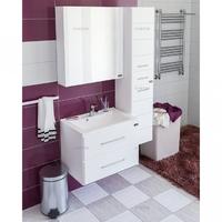 Комплект мебели для ванной комнаты СаНта Тумба Омега 65, подвесная люкс + Зеркало Стандарт 70