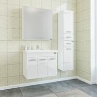 Комплект мебели СаНта Тумба Ливерпуль 70, подвесная + Зеркало Стандарт 70