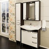 Комплект мебели СаНта Тумба Турин 100 + Зеркало Турин 100, свет