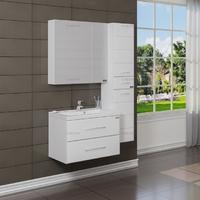 Комплект мебели СаНта Тумба Омега 70, подвесная + Зеркало Стандарт 70