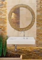 Зеркало в ванную комнату  Dubiel Vitrum Помпея Круг BLACK 98x98
