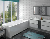 Ванна акриловая Эстет Альфа 1700*750 ванна из литого мрамора