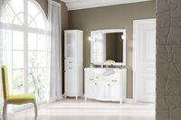 Комплект мебели DiHome Сильвия 105 белая из массива ясеня