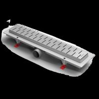 Водоотводящий желоб ALPEN Medium CH-750M1