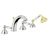Смеситель в ванную Webert Alexandra AL730101017 Хром/золото/кристаллы Swarovski