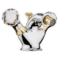 Смеситель для биде Webert Karenina КА710102017 Хром/золото/кристаллы Swarovski