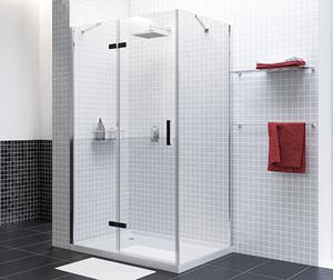 Душевой уголок WasserKRAFT Aller 10H07LBLACK MATT прямоугольник, с левой распашной дверью