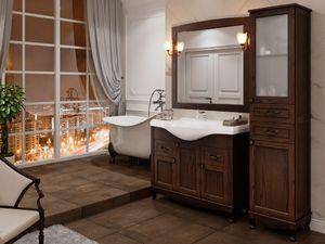 Комплект мебели DiHome Сильвия 105 орех антикварный из массива ясеня
