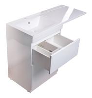 Комплект мебели Style line Даймонд 120 glass Люкс белая PLUS