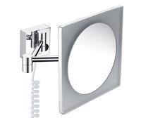Зеркало в ванную комнату WasserKRAFT K-1008 с LED-подсветкой, 3-х кратным увеличением