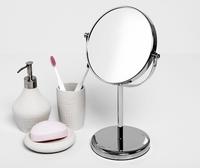 Зеркало в ванную комнату WasserKRAFT K-1003 двухстороннее, стандартное и с 3-х кратным увеличением