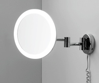 Зеркало в ванную комнату WasserKRAFT K-1004 с LED-подсветкой, 3-х кратным увеличением