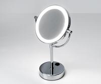 Зеркало в ванную комнату WasserKRAFT K-1005 с LED-подсветкой двухстороннее, стандартное и с 3-х кратным увеличением