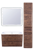 Комплект мебели Style Line Атлантика 100, подвесная, Люкс старое дерево, PLUS