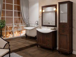 Комплект мебели DiHome Сильвия 85 орех антикварный из массива ясеня