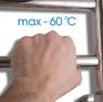 Электрический полотенцесушитель Energy H chrome G6 (прямая) 800x400
